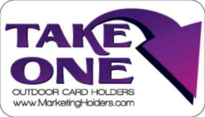 Outdoor Take One Decal Pink Sticker For Brochure Or Business Card Holders