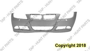 Bumper Front Without Sensor Hole With Headlamp Wash Hole Primed Sedan 3.0L/Wagon BMW 3-Series 2006-2008