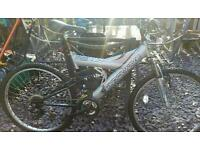 "Gents boys 18"" mountain bike full suspension"