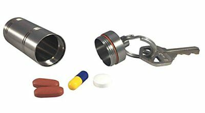 Titanium Medium Chamber Waterproof Airtight, Keychain Pill Fob Storage Case