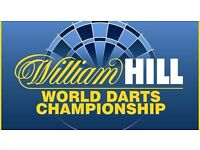 PDC World Championship Darts - Sunday 18.12.16 1pm - Front Table Seats - Best Seats in the Venue