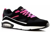 Ladies Womens Air Tech Gym Jogging Running Lace Up Trainers Shoes Size 4