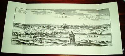 Hannover: alte Ansicht Merian Druck Stich 1650 Panorama