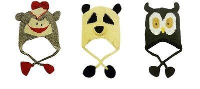 Neu Kinder Affe Panda Eule Hut Gestrickt Winter - Panda Hut Kostüm