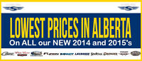 Best Prices on our NEW 2014 and 2015 lines