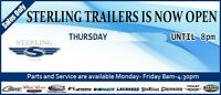 OPEN THURSDAY NIGHT STERLING TRAILERS