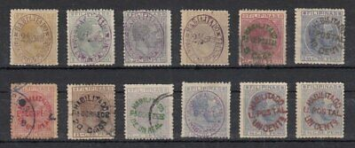 (GS138) PHILIPPINES - FILIPINAS. SURCHARGE ERA STAMPS x12
