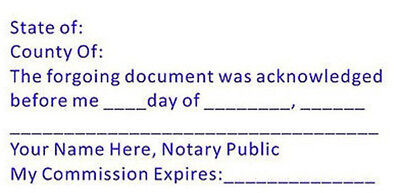 Ack-notary - Custom Acknowledgment Stamp - Self-inking Trodat 4926 -notary