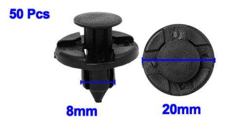 50 8mm clip di fissaggio RIVETTI CHIODI FASTENER carenatura per auto AUTO