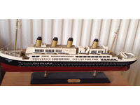 Titanic wooden model