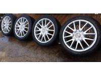 "4 x GENUINE 17"" VW GOLF GT CLASSIX ALLOY WHEELS 225 45 17 NT MONZA GTI R32 CADDY T5 SKODA SEAT GTD"