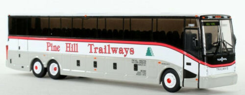 Vanhool CX-45 Pine Hill Trailways-NY 1:87 Scale HO Scale Bus Iconic Replicas NIB