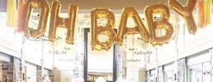 """OH BABY "" Silver Balloons"