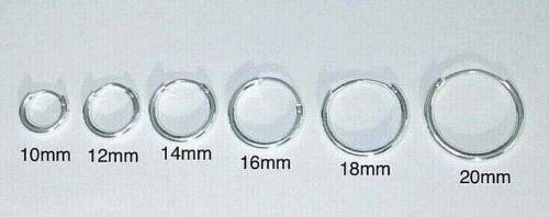 925 Sterling Silver 2mm Endless Hoop Earrings / Argollas de plata 925 - ESE27
