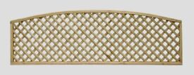 ARCH BOW TOP DIAMOND TRELLIS PRESSURE TREATED FENCE PANELS ALL SIZES FROM £19.45 CALL TODAY