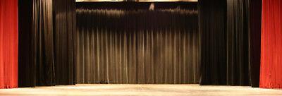Black Heavy Duty Stage - Drape Curtain Partition Panel 4 X 12 Fr