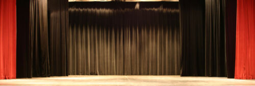 BLACK Heavy Duty Stage - Drape Curtain Partition Panel 4 x 12 FR