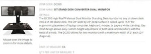 DC350 SIT STAND DUAL MONITOR DESK