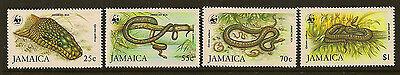 JAMAICA : 1984 WWF  Boa Snake set  SG607-10 unmounted mint