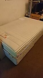 Small Double Divan Bed With Hybrid Matress For Sale
