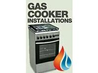Gas cooker installation and disconnection