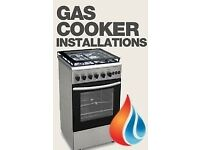 Gas engineer cooker installation .Freestanding/ range / built in gas hob