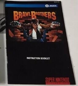 Wanted! Brawl brothers snes manual