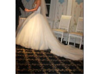 Wedding dress for sale, underskirt and trail included