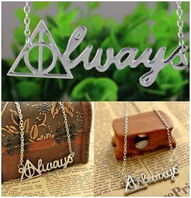 Deathly Hallows Triangle Always  Necklace