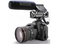 Canon 5D Mk III w/ 50MM lens, RODE Mic, ZOOM Recorder, Battery Pack + 5 batteries