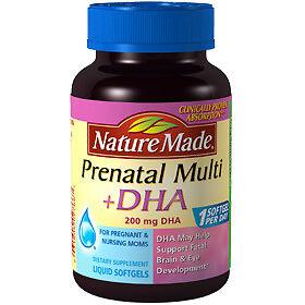 Nature made prenatal multi dha 200mg 150 liquid softgels
