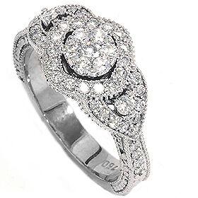 SALE-79CT-PAVE-DIAMOND-VINTAGE-ENGAGEMENT-RING-ANTIQUE-ANNIVERSARY-WHITE-GOLD