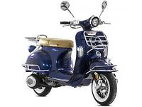 Lexmoto Milano 50cc, New & Unused, Blue or Black or White 2YR WARRANTY! FINANCE!