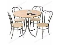 Tables and chairs - bistro table and chairs, beech, 11 sets, all used but in good condition