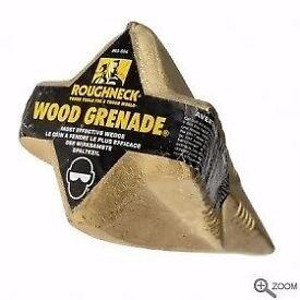 Roughneck Wood splitting grenade. brand new. log tree firewood
