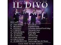 2 seated tickets for Il Divo at Edinburgh Castle