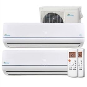 27000 BTU Thermopompe Climatiseur a 2 Zones,  SEER 23