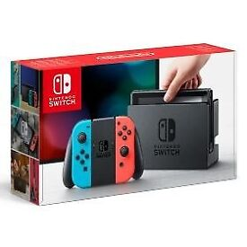 Nintendo Switch Console with Neon Joy-Cons