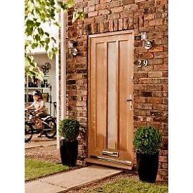 Modern Oak Front Door