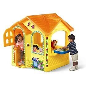 Dora outdoor little tike home ( never saw outdoors)