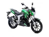 Lexmoto Venom 125cc, New & Unused, White/Blue or Green/Black, 2YR WARRANTY
