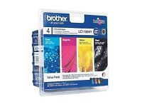 Brother LC1100HY High Capacity Original Black & Colour Ink Cartridge 4 Pack