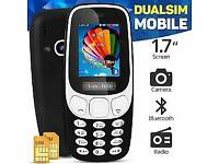 Unlocked New H-Mobile 3310 Cell Phone With Bluetooth with MP3 Camera 1.8 black or red!
