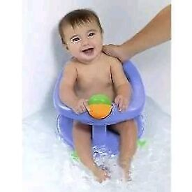 Pastel blue baby bath seat