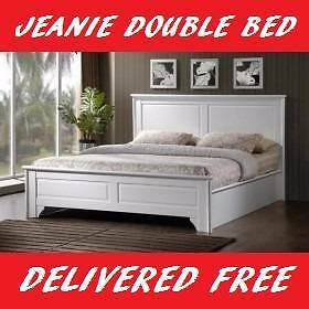 FREE DELIVERY Double Size WHITE 'Jeanie' Bed Frame – BRAND NEW New Farm Brisbane North East Preview