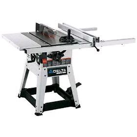 """Delta 10"""" table saw with 7ft fence rails for 50"""" rip, like new!"""