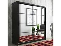 ✯ Impressive Design - Best Quality - Brand New STORAGE Mirrored Sliding Wardrobe with Warranty ✯