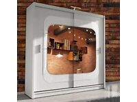 ⏳ Limited Time Offer - Brand New CHELSEA Sliding Door Mirrored Wardrobe With Warranty ⏳