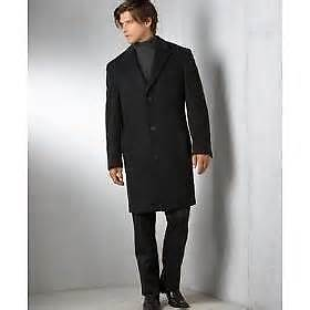 Mens Stylish-Cool Italian $230 CASHMERE & WOOL Coat ~ NEW