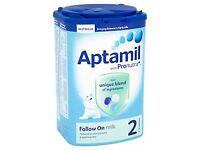 Aptamil 2 Follow On Milk Powder 6+ Mths 900g X10. NEXT DAY DELIVER UK